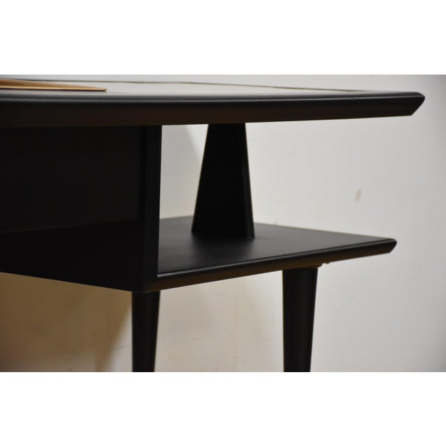 Black Lacquered Tile Planter Console For Sale - Image 5 of 9