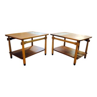 Lane Furniture Mid-Century Walnut Lane End Tables - A Pair