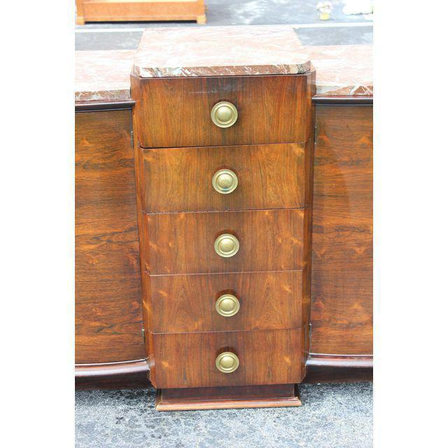 1940s 1940s Art Deco Grand Scale Macassar Ebony Sideboard For Sale - Image 5 of 12