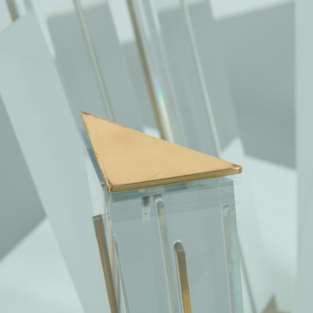 A Superb Lucite and Bronze Dining Table with Unique Glass Top - Image 10 of 11