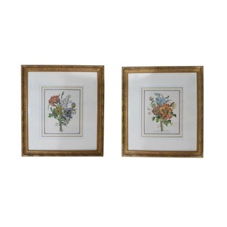 Antique Botanical Floral Still Life Hand Colored Prints - a Pair For Sale