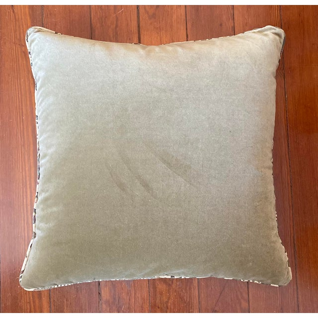 Feather Vintage Fortuny Pillows - a Pair For Sale - Image 7 of 8