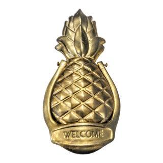 Solid Brass Pineapple Welcome Door Knocker