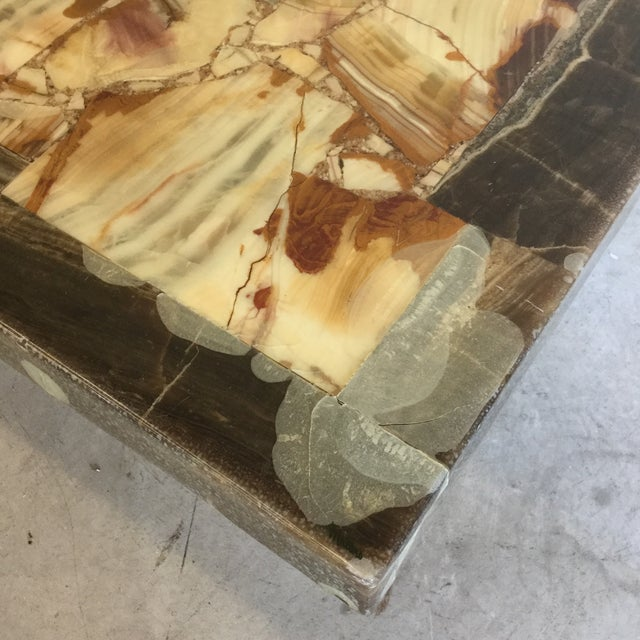 Rectangular Onyx Coffee Table Attributed to Muller and Arturo Pani For Sale In Richmond - Image 6 of 13