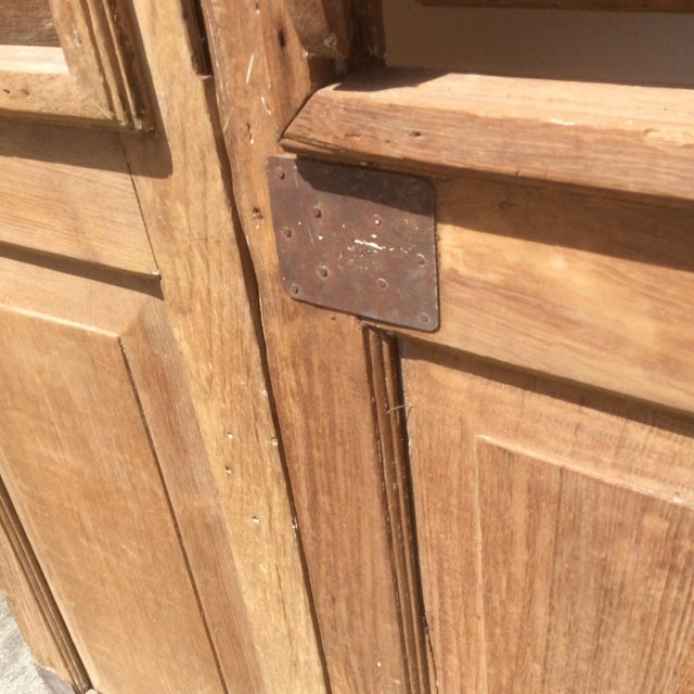 Pair of Heavy Rustic Antique Wood Shutters For Sale - Image 4 of 9