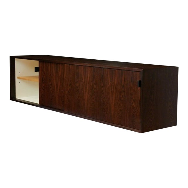 Florence Knoll Floating Rosewood Credenza For Sale