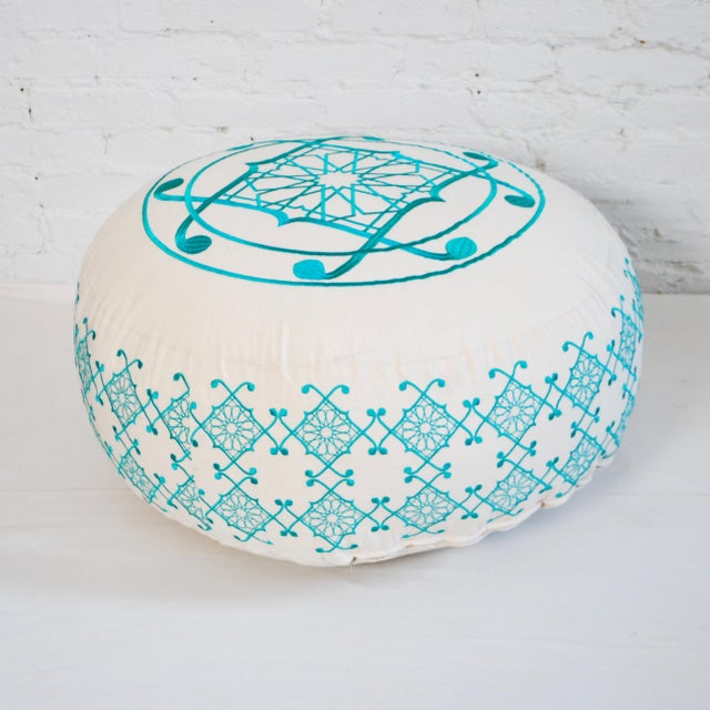 Named after the embroiderer, these beautiful floor pillows are also available in custom colors. Covers have a zipper and...