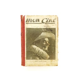 """1920s Antique French """"Mon Ciné"""" Cinema Magazines Bound as a Book Preview"""