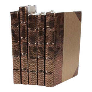 Exotic Metallic Collection Copper Books - Set of 5 For Sale