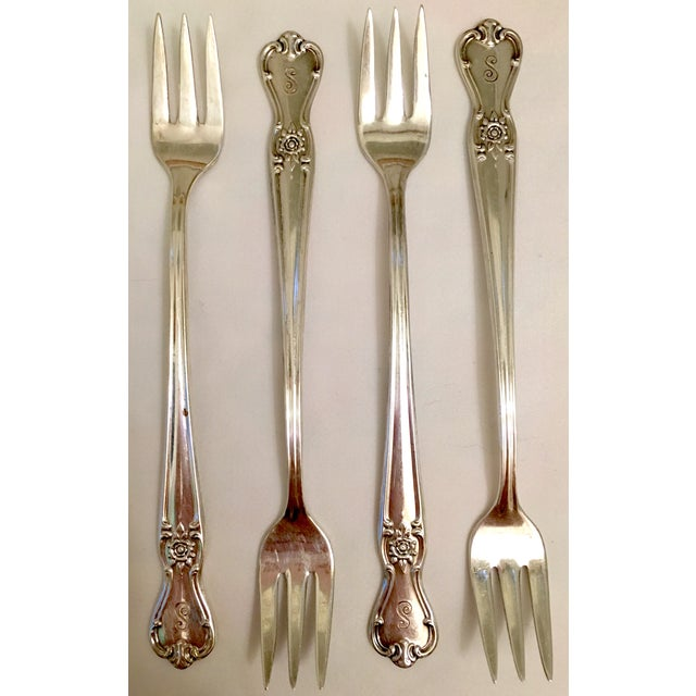 English Traditional Engraved Serving Silverware - Set of 11 For Sale - Image 3 of 6