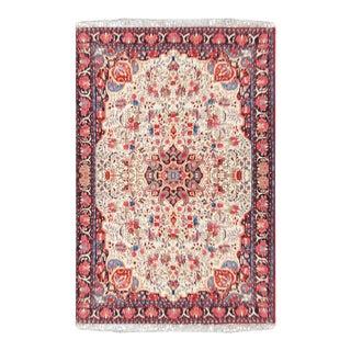 Bidjar Beige Wool Rug-6′1″ × 10′1″ For Sale
