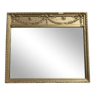 Vintage Italianate Style Gold Mirror For Sale