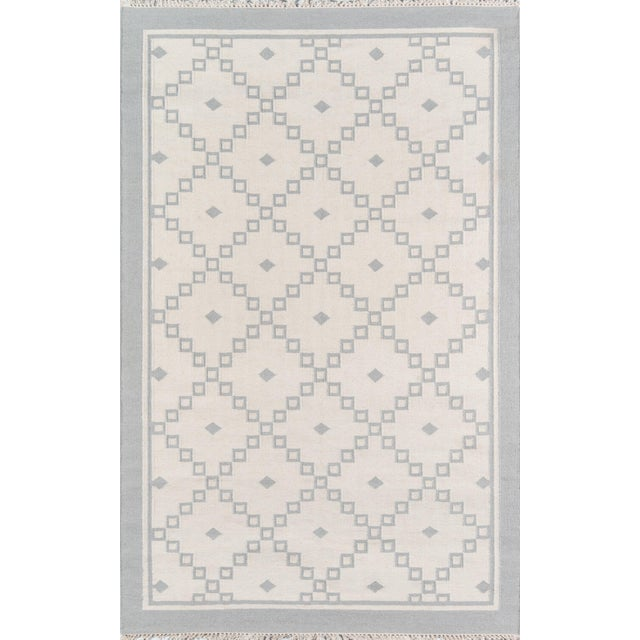 """Erin Gates Thompson Langley Grey Hand Woven Wool Area Rug 3'6"""" X 5'6"""" For Sale"""