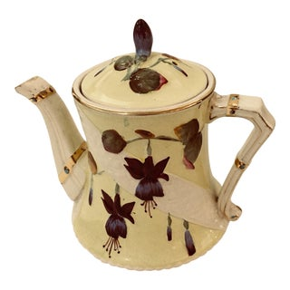 European Porcelain Floral Teapot For Sale