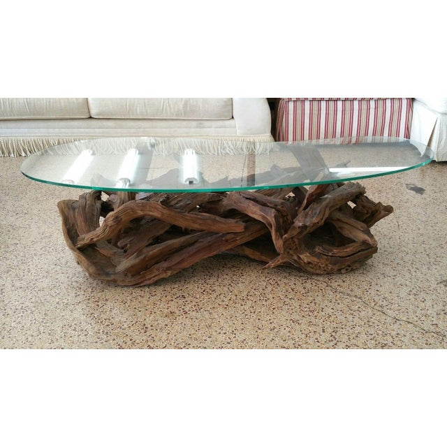 1970s Vintage Tangled Biomorphic Driftwood Cocktail Table For Sale In Miami - Image 6 of 6
