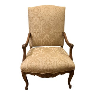 Dennis & Leen Carved Italian Throne Chair For Sale