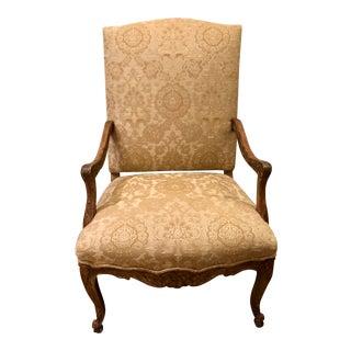Dennis & Leen Elegant Designer Carved Italian Arm Chair For Sale