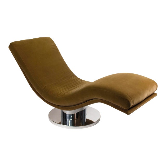 Swivel Chaise Lounge by Milo Baughman For Sale
