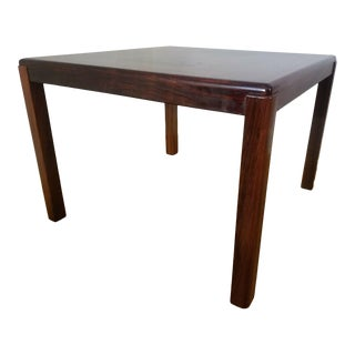 "Vejle Stole Henning Kjaernulf Danish Modern 28"" Square Rosewood Coffee Occasional Table For Sale"