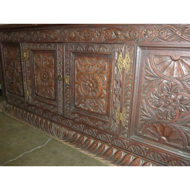 Antique European Detailed and Highly Carved Sideboard With Key - Image 3 of 10