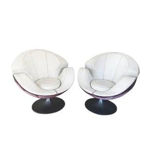 Swivel Pair of Chairs Scandinavian Design 1960, Unique Design