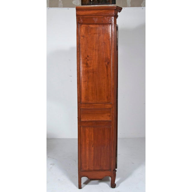 French 18th Century french Louis XVI Walnut Chateau Armoire For Sale - Image 3 of 9