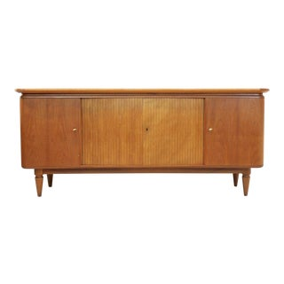 Curved Art Deco Sideboard in Teak, Dutch Design For Sale