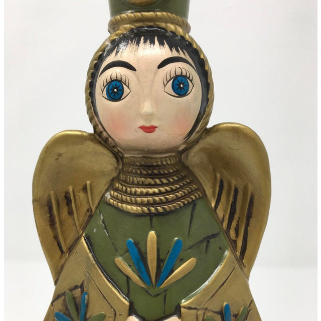 Mid-Century Modern Paper Mache Angel Figurine For Sale In Minneapolis - Image 6 of 9