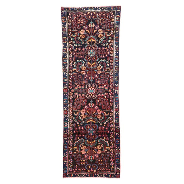 Antique Persian Bakhtiari Runner with Modern Style in Vibrant Colors For Sale In Dallas - Image 6 of 9
