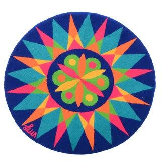 1960's Luis Montiel Circular Op Art Tapestry