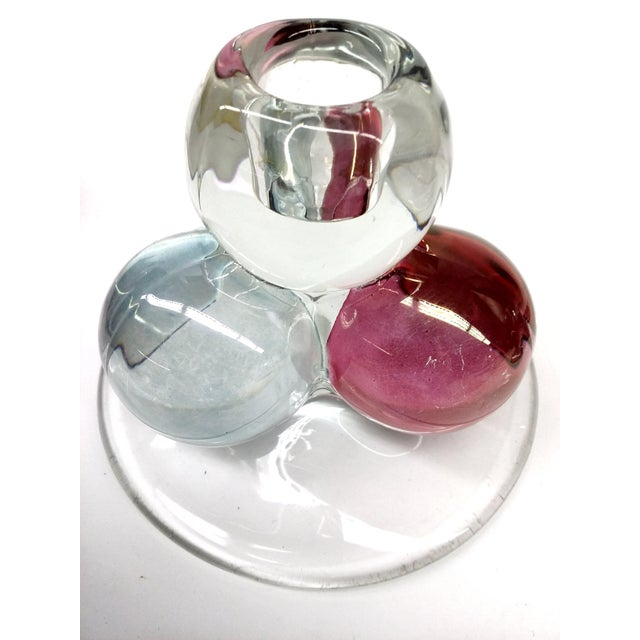 Mid-Century Modern MCM Westmoreland Glass Ball Candle Holders - 2 For Sale - Image 3 of 8
