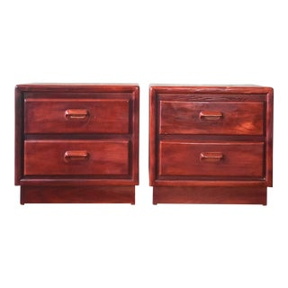 1950s Mid-Century Modern Two Drawer Nightstands - a Pair For Sale