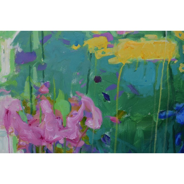 "Stephen Remick Abstract Painting, Garden Party Painting - 24"" X 30"" - Image 5 of 9"