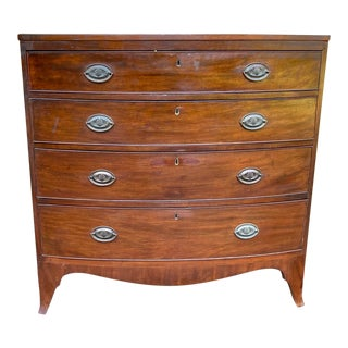 19th Century George III Bowfront Chest For Sale