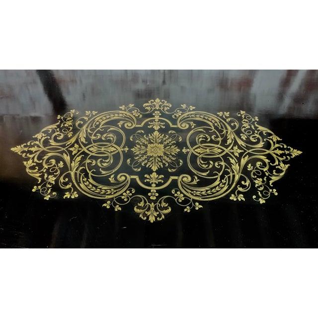 19th Century Black Ebinized Napoleon III French Desk W/Bronze Mounts For Sale - Image 9 of 10
