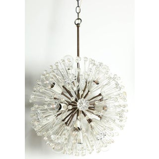"""1950s Emil Stejnar """"Snowball"""" Brass and Hand Cut Crystal Hanging Pendant Preview"""