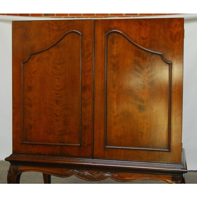 Louis XV Style Carved Walnut Cabinet on Stand - Image 5 of 10