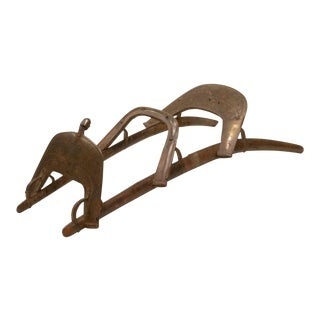19th Century Antique Napoleon Dromadaire Middle Eastern 2 Person Dromedary Camel Saddle For Sale