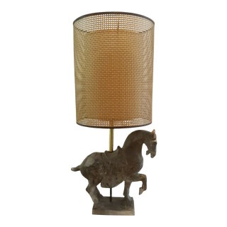 Mid-Century Modern Tang Dynasty Style Horse Table Lamp For Sale