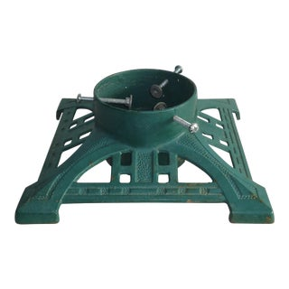 Antique Arts & Crafts Style Cast Iron Christmas Tree Stand