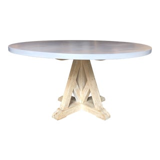 Contemporary Round Pedestal Dining Table
