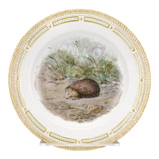 Flora Danica Hedgehog Dinner Plate For Sale