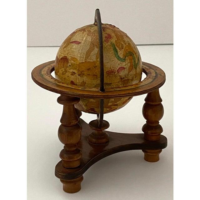 Hollywood Regency Vintage Artisan Fantasy Celestial Globe Antique Motif For Sale - Image 3 of 13
