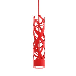 Crenshaw Lighting Ribbon Drop Pendant (Red) For Sale
