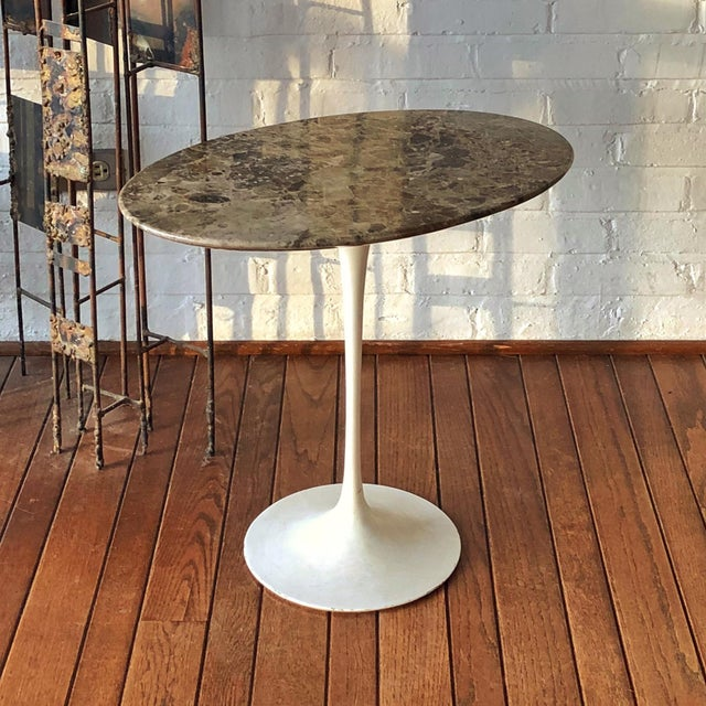 Eero Saarinen Tulip Side Table With Marble Top For Sale - Image 11 of 12