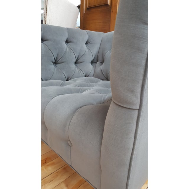 Contemporary Wesley Hall Tufted Club Chair For Sale - Image 9 of 10