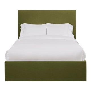 Hadley Full/Double Bedframe, Olive Velvet For Sale