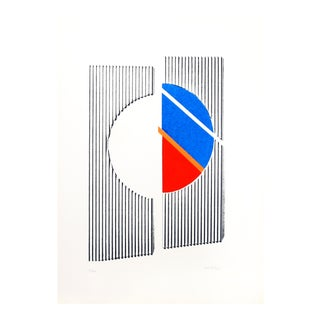 Geometric Abstract Serigraph by Michael Argov