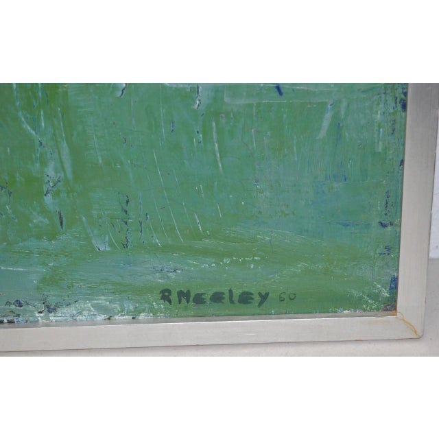 Mid Century Modern Abstract Masterpiece by R. Neeley c.1960 For Sale In San Francisco - Image 6 of 10