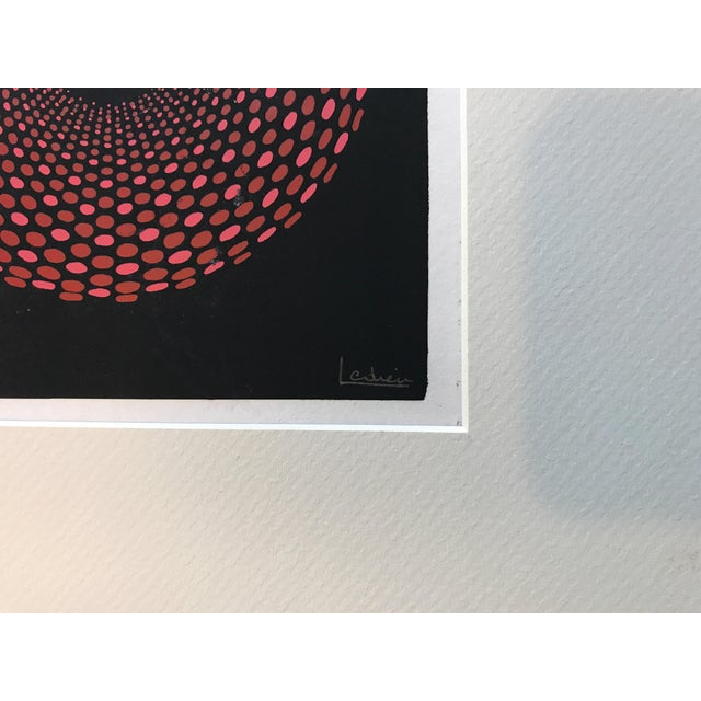 French Geometric Mid-Century Signed Print - Image 3 of 7